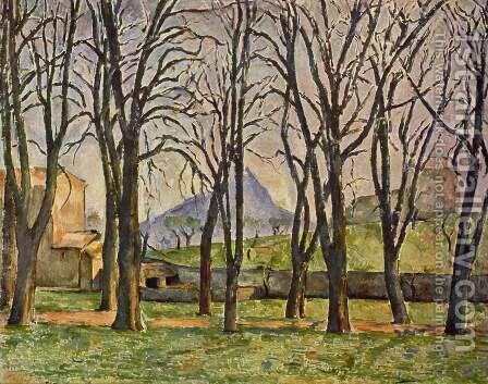 Chestnut Trees At The Jas De Bouffan by Paul Cezanne - Reproduction Oil Painting