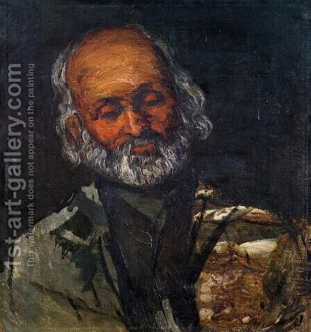 Head Of An Old Man by Paul Cezanne - Reproduction Oil Painting