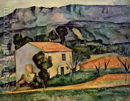 Houses In Provence  Near Gardanne by Paul Cezanne - Reproduction Oil Painting
