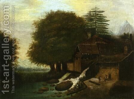 Landscape With Mill by Paul Cezanne - Reproduction Oil Painting