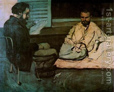 Paul Alexis Reading To Zola by Paul Cezanne - Reproduction Oil Painting