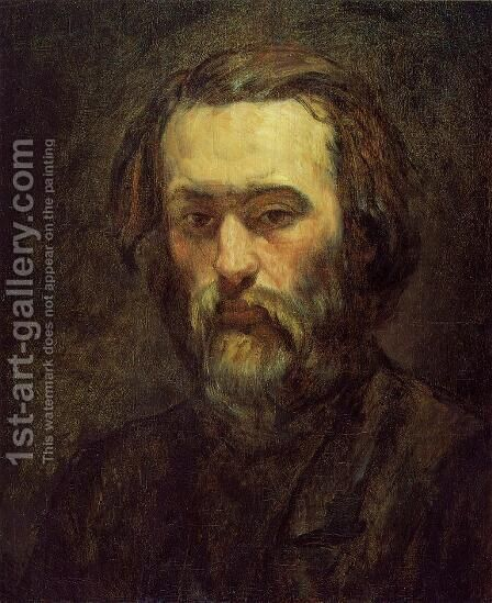 Portrait Of A Man by Paul Cezanne - Reproduction Oil Painting