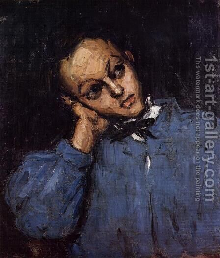 Portrait Of A Young Man by Paul Cezanne - Reproduction Oil Painting