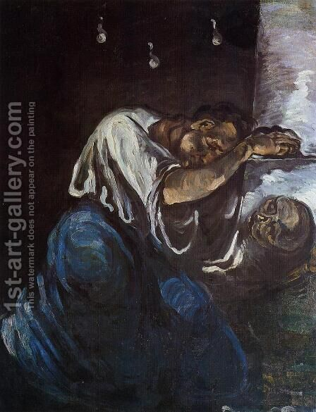 Sorrow Aka The Magdalen by Paul Cezanne - Reproduction Oil Painting