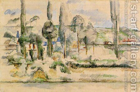 The Chateau De Medan by Paul Cezanne - Reproduction Oil Painting