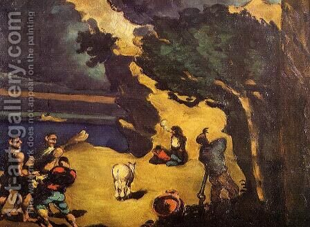 The Robbers And The Donkey by Paul Cezanne - Reproduction Oil Painting