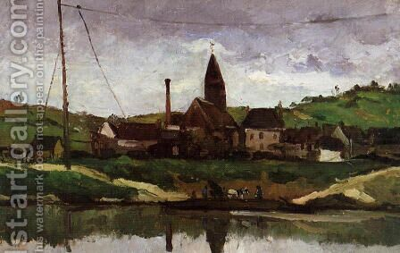 View Of Bonnieres by Paul Cezanne - Reproduction Oil Painting