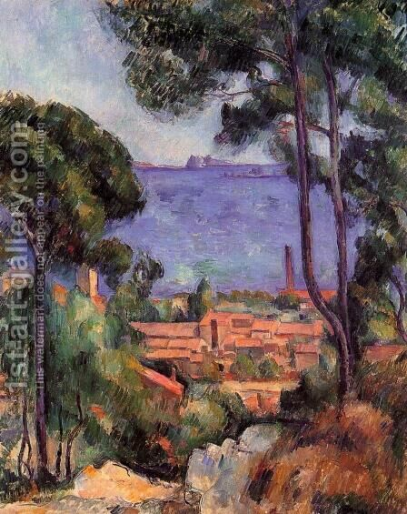 View Through The Trees by Paul Cezanne - Reproduction Oil Painting
