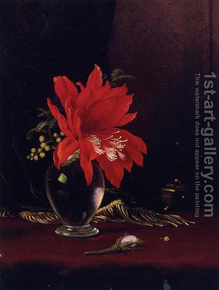 Chateau Of Flower by Martin Johnson Heade - Reproduction Oil Painting