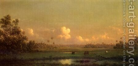 Evening  Lake Alto  Florida by Martin Johnson Heade - Reproduction Oil Painting