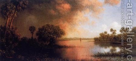 Florida River Scene by Martin Johnson Heade - Reproduction Oil Painting