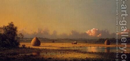 Hayfields A Clear Day by Martin Johnson Heade - Reproduction Oil Painting