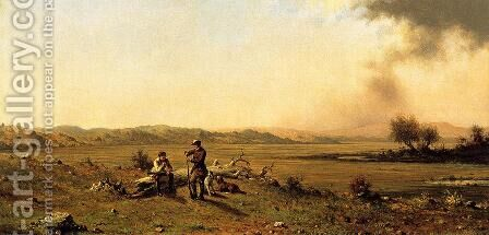 Hunters Resting by Martin Johnson Heade - Reproduction Oil Painting