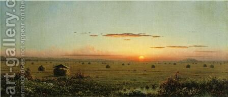 Ipswich Marshes by Martin Johnson Heade - Reproduction Oil Painting