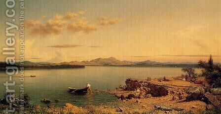 Lake George by Martin Johnson Heade - Reproduction Oil Painting