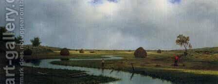 Marshfield Meadows by Martin Johnson Heade - Reproduction Oil Painting