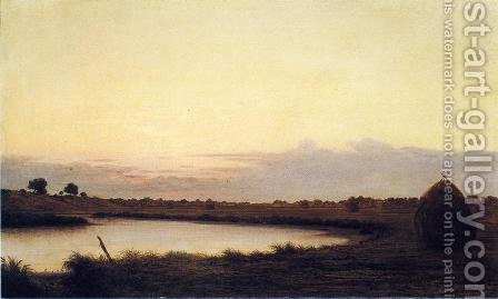 Quiet River At Dusk by Martin Johnson Heade - Reproduction Oil Painting