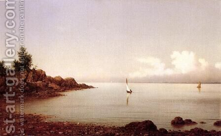 Rocky Shore by Martin Johnson Heade - Reproduction Oil Painting