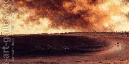 Rye Beach by Martin Johnson Heade - Reproduction Oil Painting