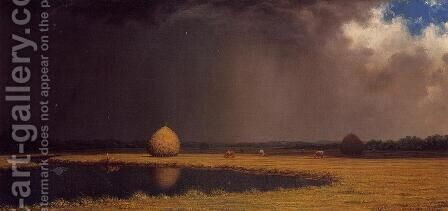Salt Marsh Hay by Martin Johnson Heade - Reproduction Oil Painting