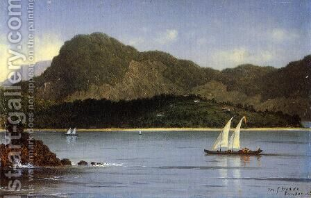 Seascape Aka Brazilian View by Martin Johnson Heade - Reproduction Oil Painting