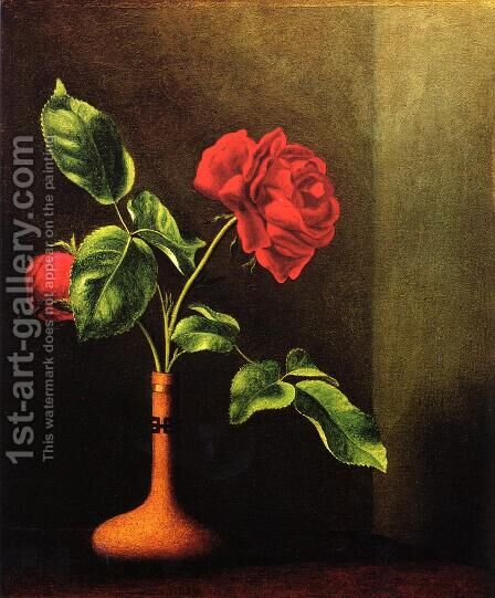 Still LIfe With Rose by Martin Johnson Heade - Reproduction Oil Painting