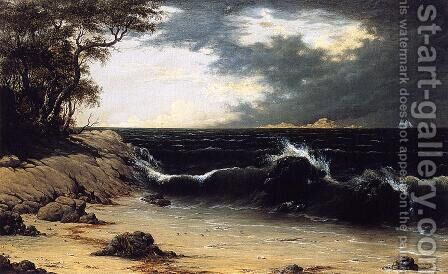 Storm Clouds Over The Coast by Martin Johnson Heade - Reproduction Oil Painting