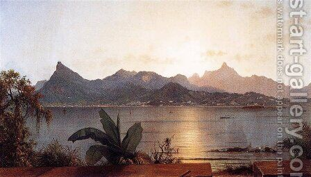 Sunset Harbor At Rio by Martin Johnson Heade - Reproduction Oil Painting