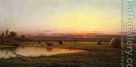 Sunset On The Rowley Marshes by Martin Johnson Heade - Reproduction Oil Painting