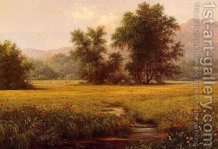 The Meadow by Martin Johnson Heade - Reproduction Oil Painting