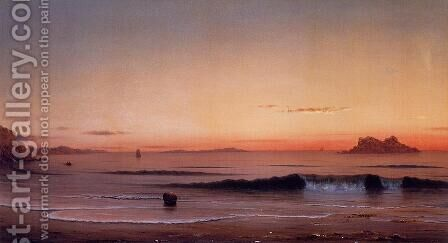 Twilight  Singing Beach by Martin Johnson Heade - Reproduction Oil Painting
