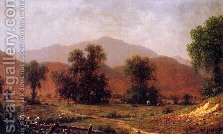White Mountain Landscape  Mount Washington by Martin Johnson Heade - Reproduction Oil Painting