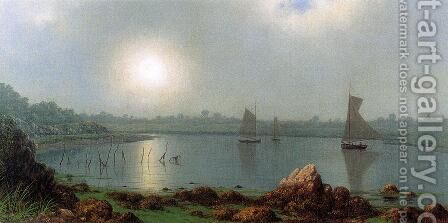 York Harbor  Coast Of Maine by Martin Johnson Heade - Reproduction Oil Painting