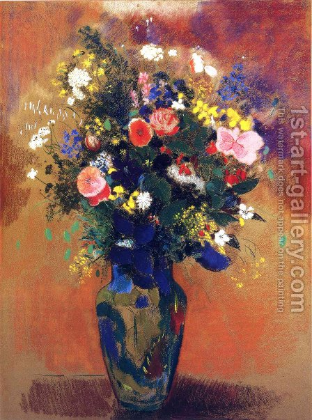 Bouquet In A Persian Vase by Odilon Redon - Reproduction Oil Painting