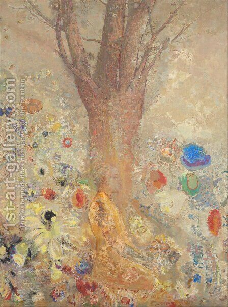 Buddah In His Youth by Odilon Redon - Reproduction Oil Painting