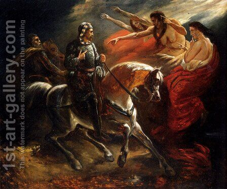 Macbeth Et Les Sorcieres by Ary Scheffer - Reproduction Oil Painting