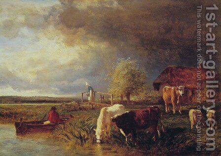 Approaching Storm by Constant Troyon - Reproduction Oil Painting