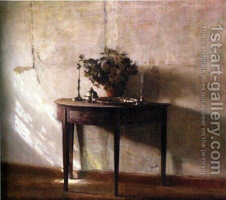 Interior I Sollys by Carl Wilhelm Holsoe - Reproduction Oil Painting