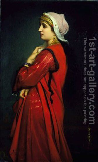 An Armenian Woman by Charles Zacharie Landelle - Reproduction Oil Painting