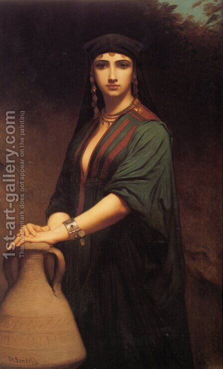 Female Fellah by Charles Zacharie Landelle - Reproduction Oil Painting
