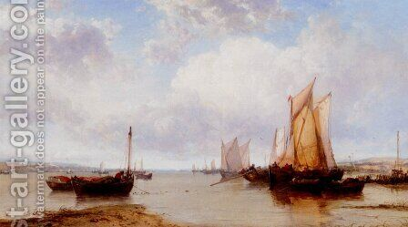 Near Cowes  Isle Of Wight by James Webb - Reproduction Oil Painting