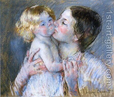A Kiss For Baby Anne2 by Mary Cassatt - Reproduction Oil Painting