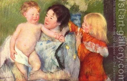 After The Bath by Mary Cassatt - Reproduction Oil Painting