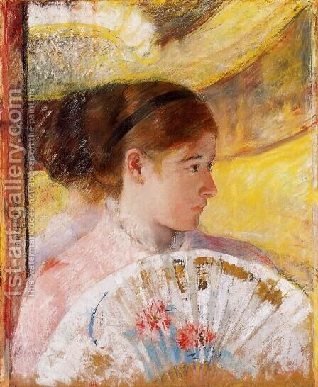 At The Theater by Mary Cassatt - Reproduction Oil Painting