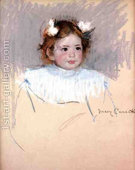 Ellen With Bows In Her Hair  Looking Right by Mary Cassatt - Reproduction Oil Painting