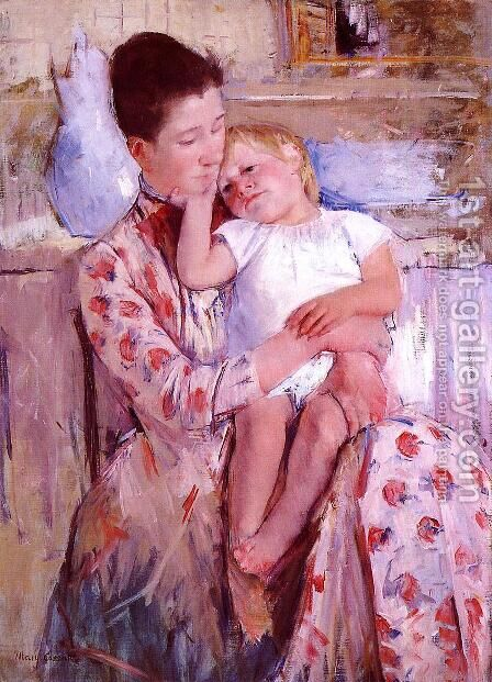 Emmie And Her Child by Mary Cassatt - Reproduction Oil Painting