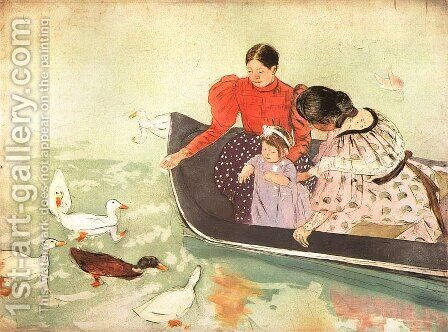 Feeding The Ducks by Mary Cassatt - Reproduction Oil Painting