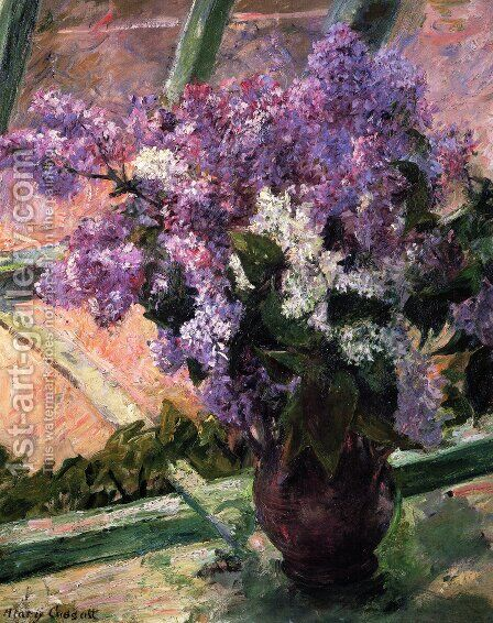 Lilacs In A Window2 by Mary Cassatt - Reproduction Oil Painting
