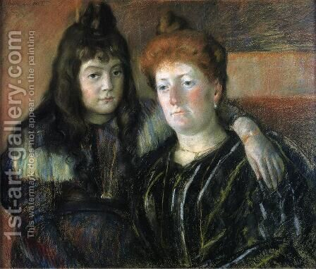 Madame Meerson And Her Daughter by Mary Cassatt - Reproduction Oil Painting