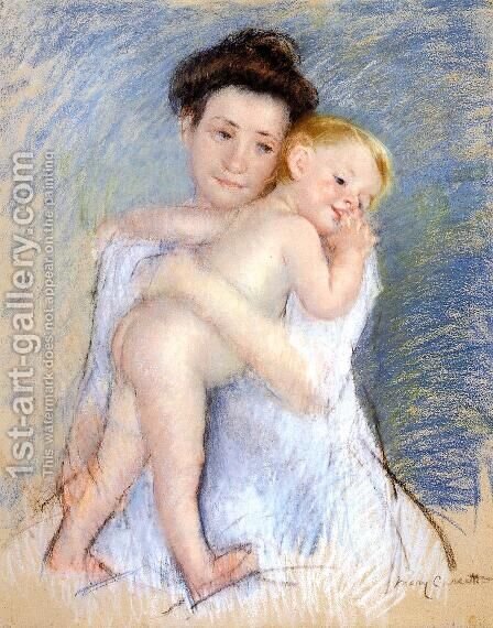Maternal Tenderness by Mary Cassatt - Reproduction Oil Painting